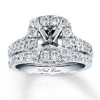 Neil Lane Bridal Setting 1 5/8 ct tw Diamonds 14K White Gold