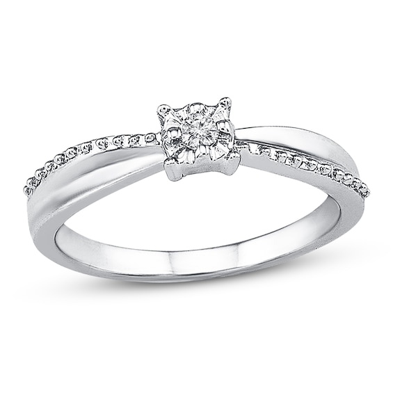 Promise Ring Diamond Accent Sterling