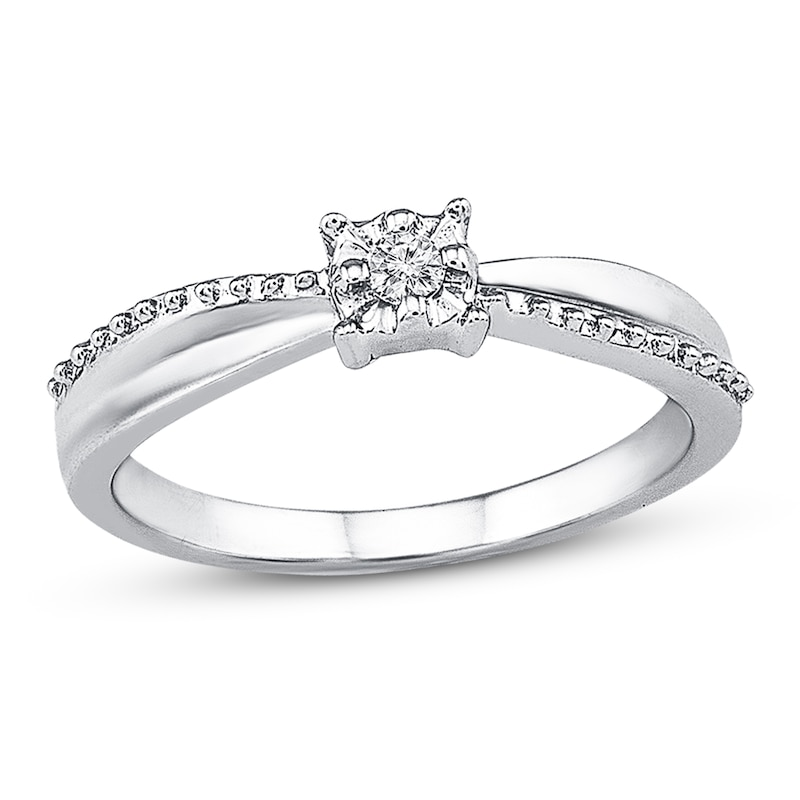 Promise Ring Diamond Accent Sterling Silver Promise Rings