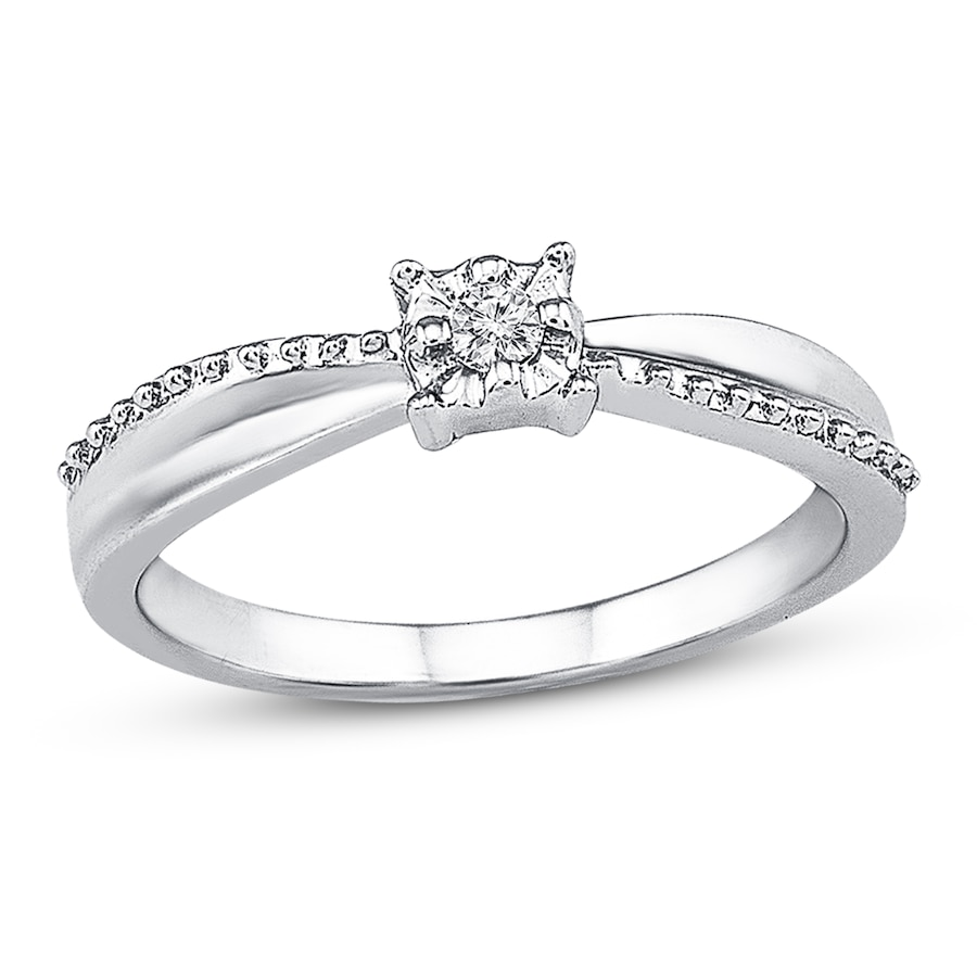 promise ring accent sterling silver