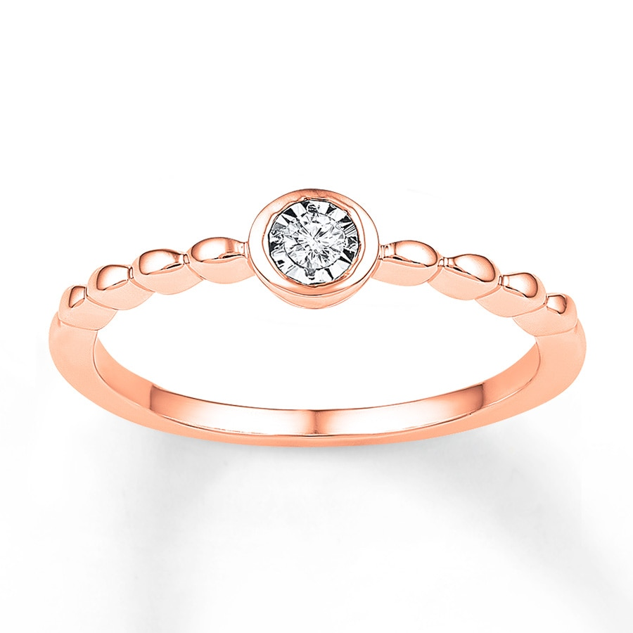 Kay Diamond Ring 1 20 Carat 10K Rose Gold