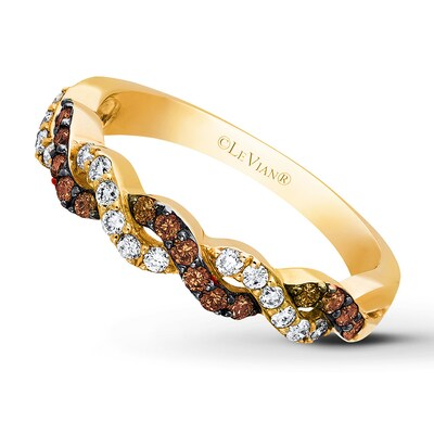 Le Vian Chocolate Diamonds 3/8 ct tw Ring 14K Honey Gold
