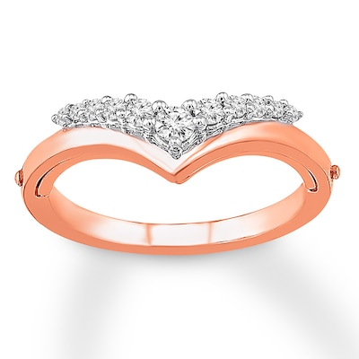 """Better Together"" Diamond Ring 1/5 cttw Round-cut 10K Rose Gold"