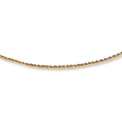 "Rope Chain Necklace 14K Yellow Gold 20"" Length"