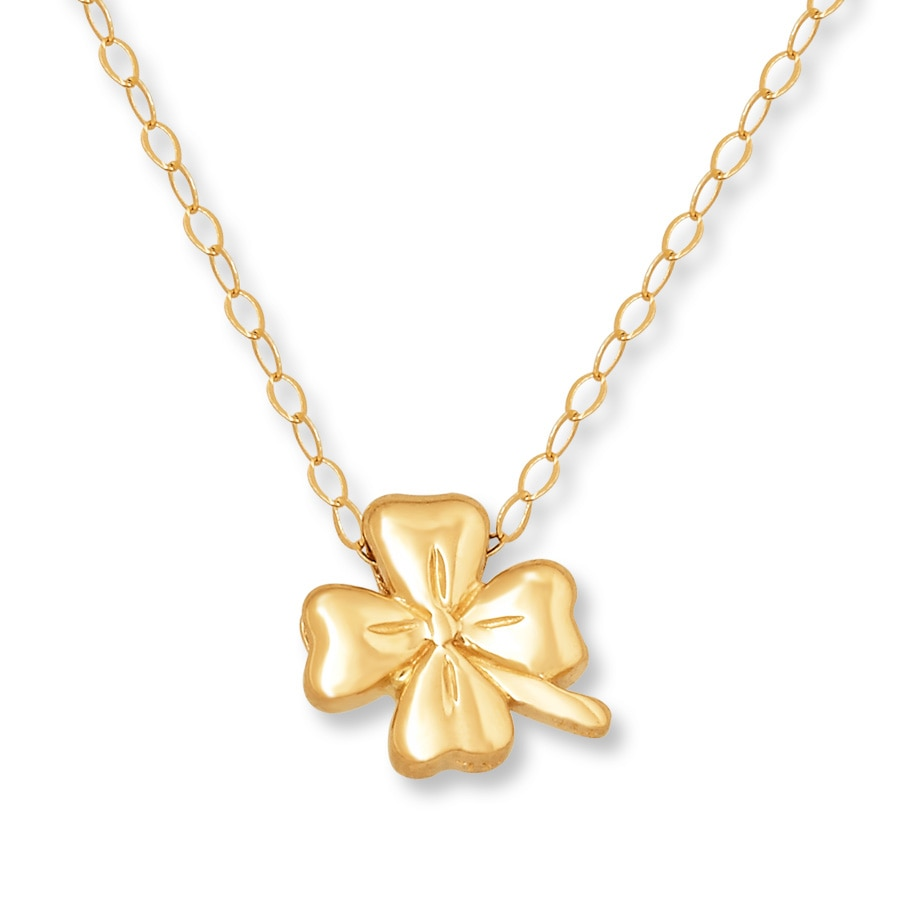long jewelry products gold brass cloverleaf co basil rose necklace leaf clover black