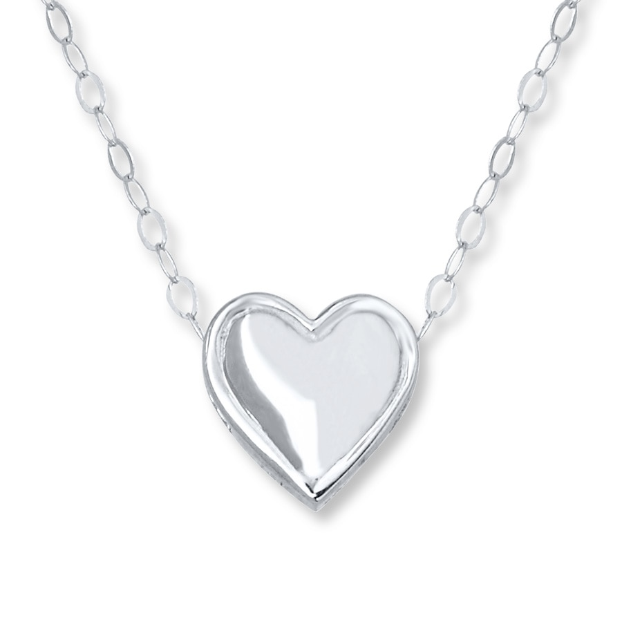 Kay young teen heart necklace 14k white gold young teen heart necklace 14k white gold aloadofball Images