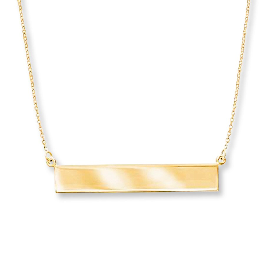 1fa2bbdec Bar Necklace 14K Yellow Gold - 713209409 - Kay