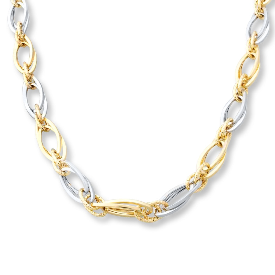 necklace bar in diamond two tone products with gold plumeria