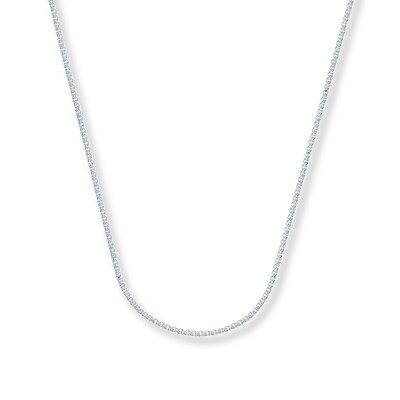 "Wheat Chain Necklace 14K White Gold 16"" Length"