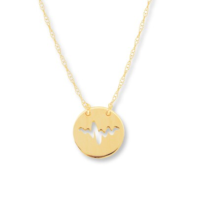 Heartbeat Necklace 14K Yellow Gold