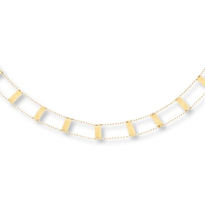 "Choker Necklace 10K Yellow Gold 16"" Adjustable"