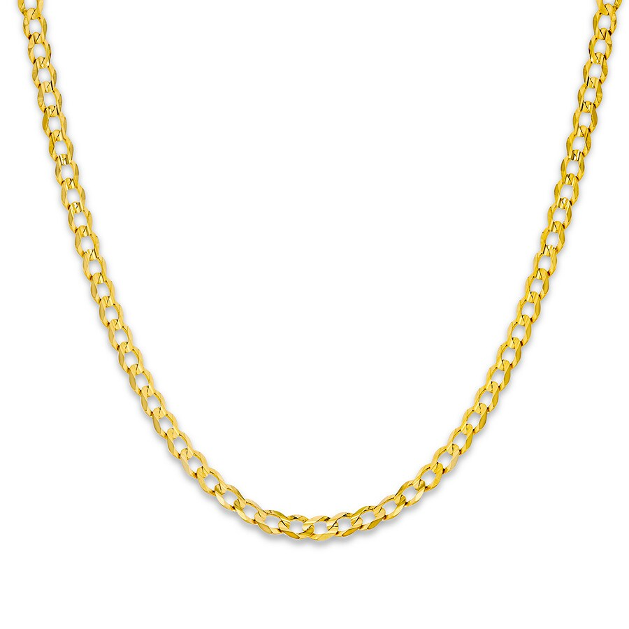 6689529ef489e Men's Cuban Curb Chain Necklace 14K Yellow Gold 20