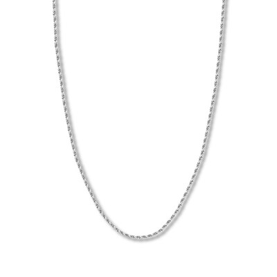 "20"" Textured Rope Chain 14K White Gold Appx. 2.15mm"