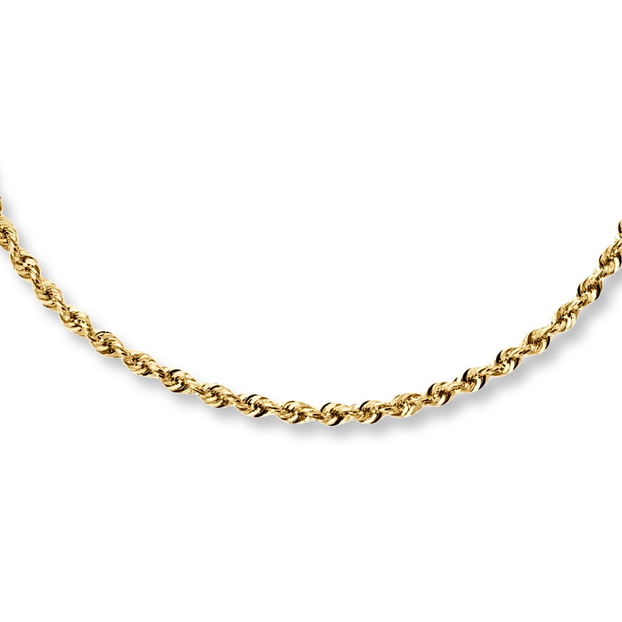 "Rope Necklace 14K Yellow Gold 24"" Length - 722221102"