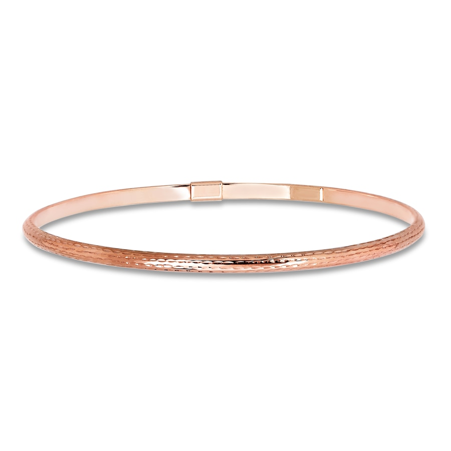 Kay Bangle Bracelet 10k Rose Gold