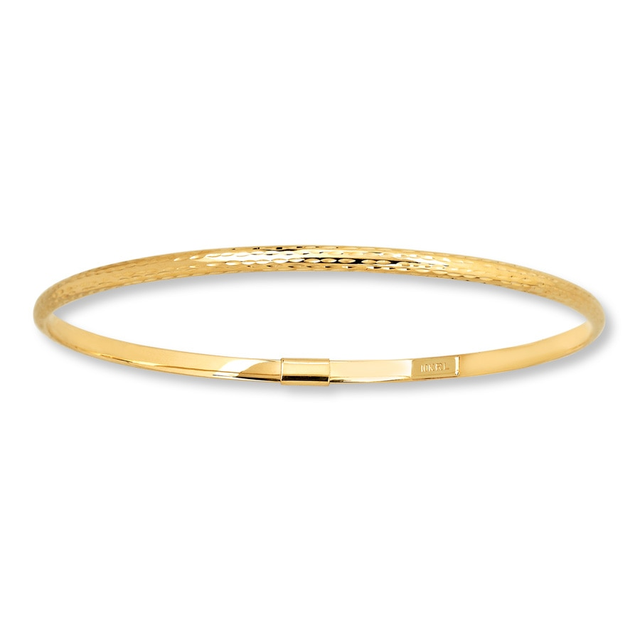 Gold Jewelry Bracelets: Bangle Bracelet 10K Yellow Gold