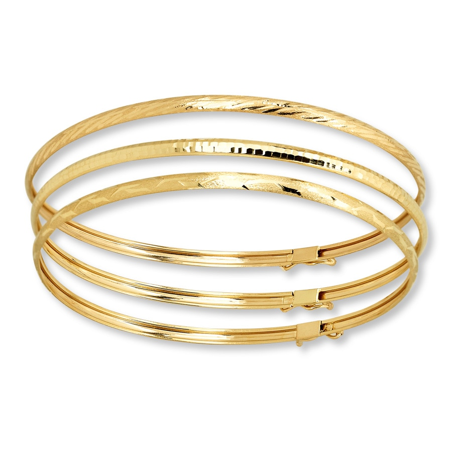 Bangle Bracelet Set 10k Yellow Gold 722236700 Kay