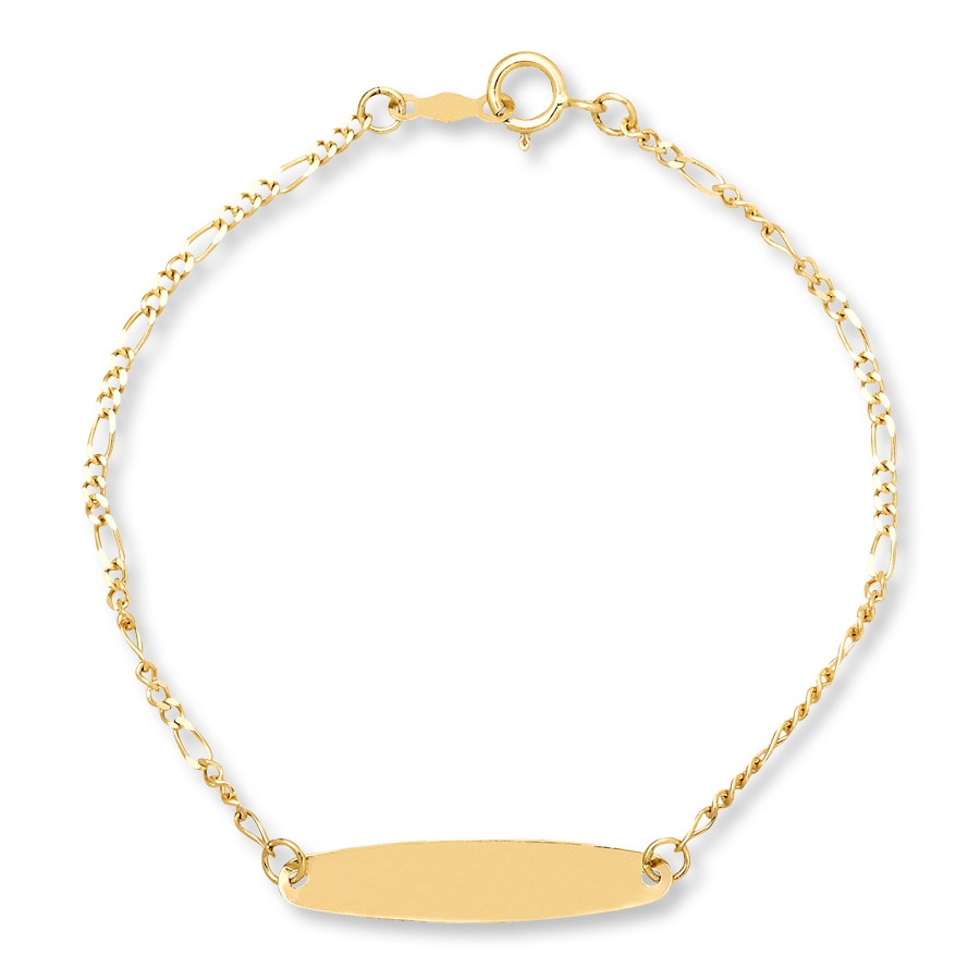 Children S Id Bracelet 14k Yellow Gold Tap To Expand