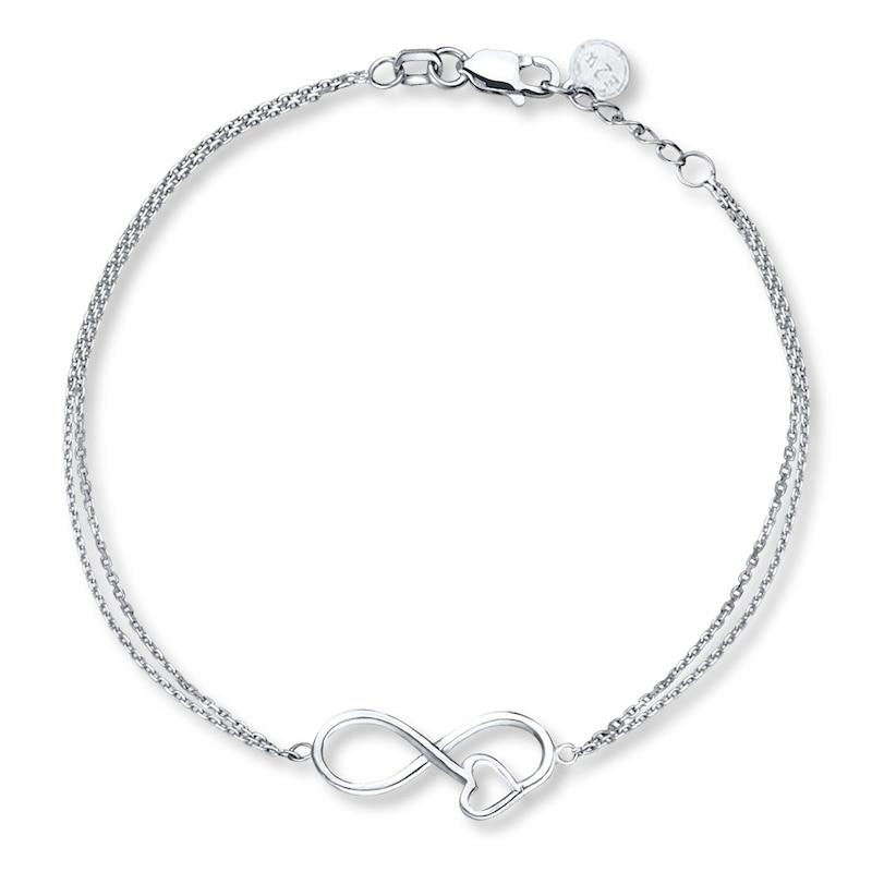 Infinity Heart Bracelet Sterling Silver
