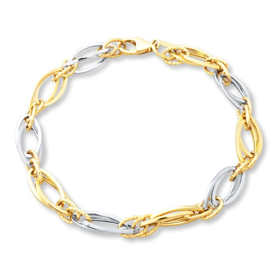 Chain Bracelet 10k Two Tone Gold Tap To Expand