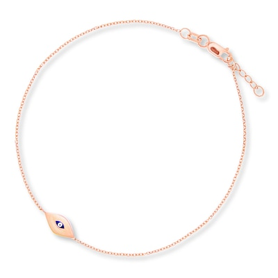 Evil Eye Bracelet 14K Rose Gold