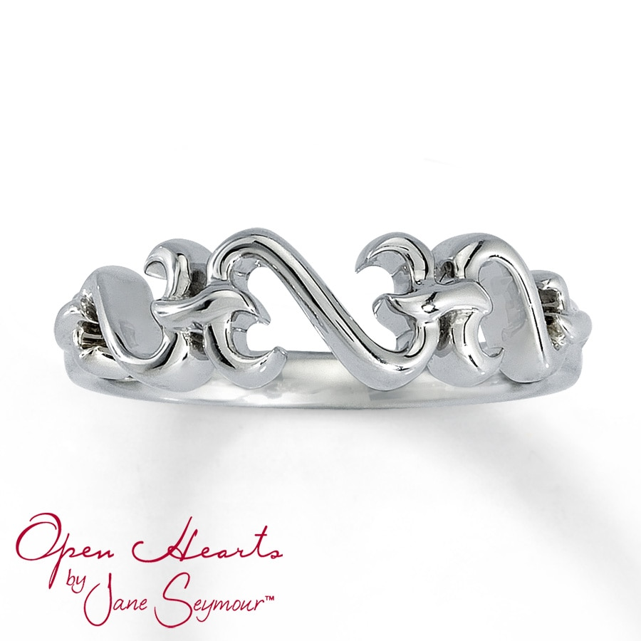 Kay Open Hearts Ring Sterling Silver