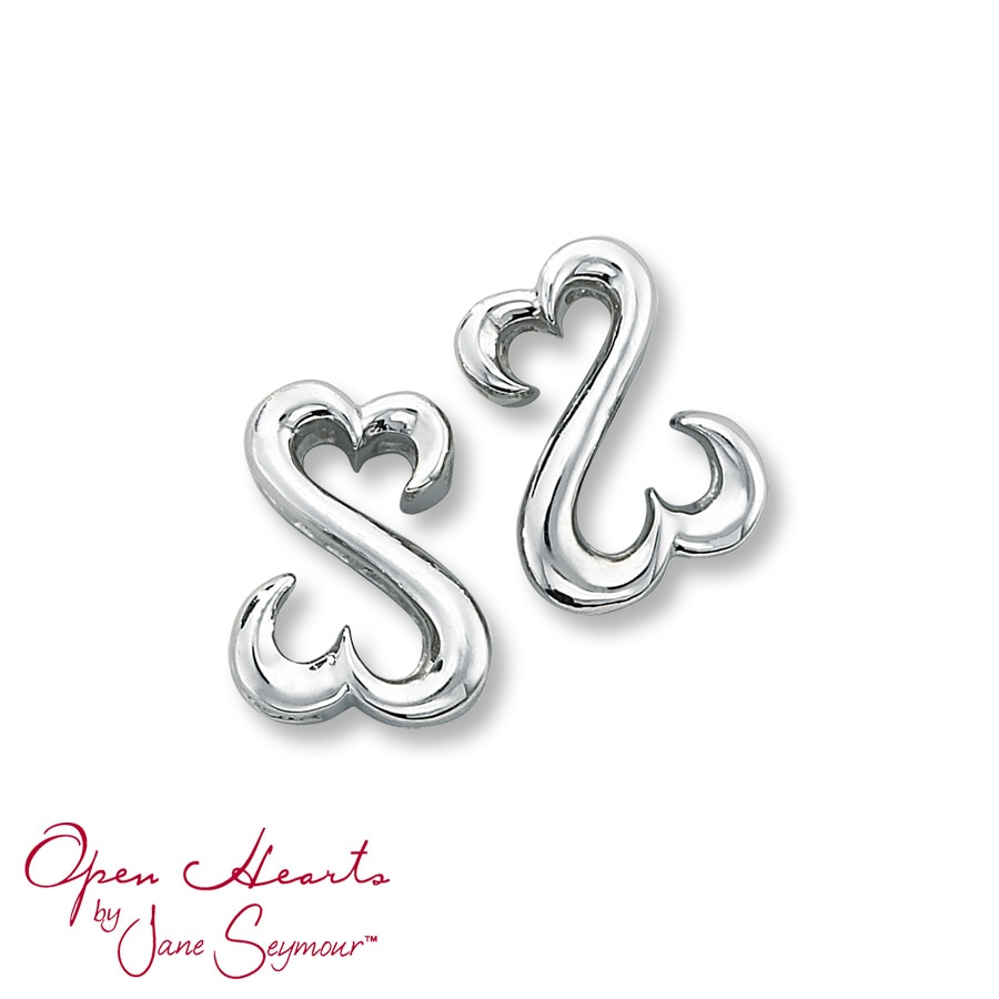 Open Hearts By Jane Seymour Iconic Earrings