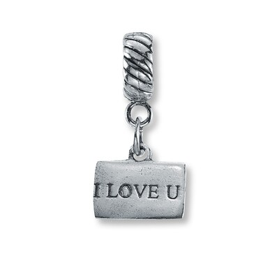 "Charmed Memories ""I Love U"" Envelope Charm Sterling Silver"