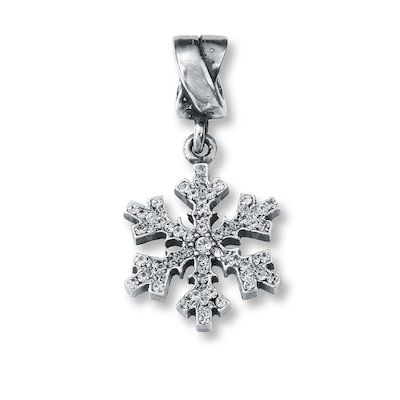 Charmed Memories Snowflake Dangle Charm Sterling Silver
