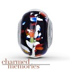 Charmed Memories Multicolor Murano Glass Sterling Silver Charm