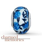 Charmed Memories Murano Glass Charm Sterling Silver