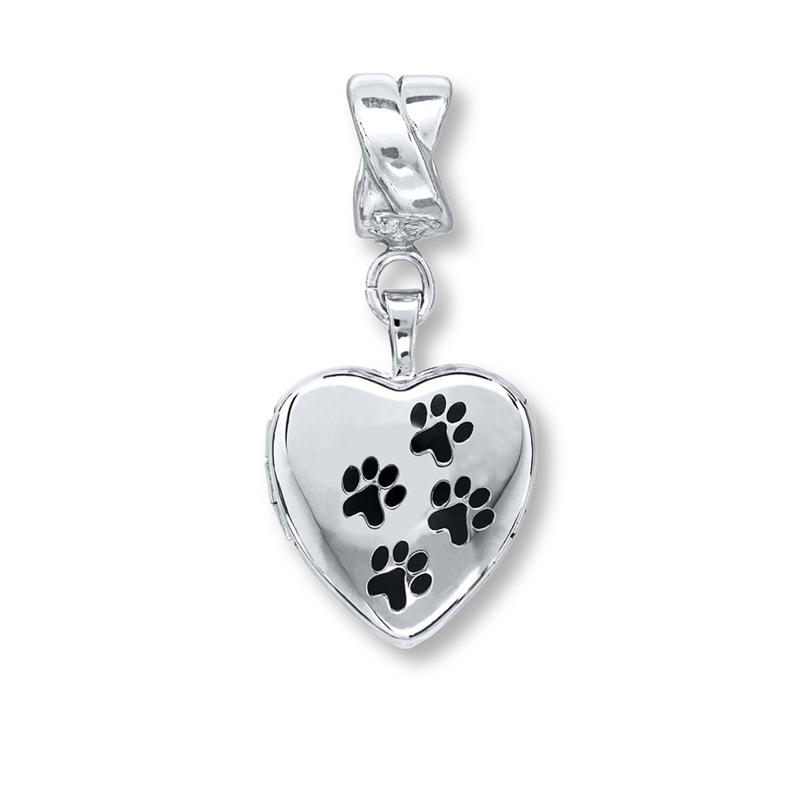 sterling attractive photo open lockets heart memorial paw design necklace pet print silver jewelry locket clipart