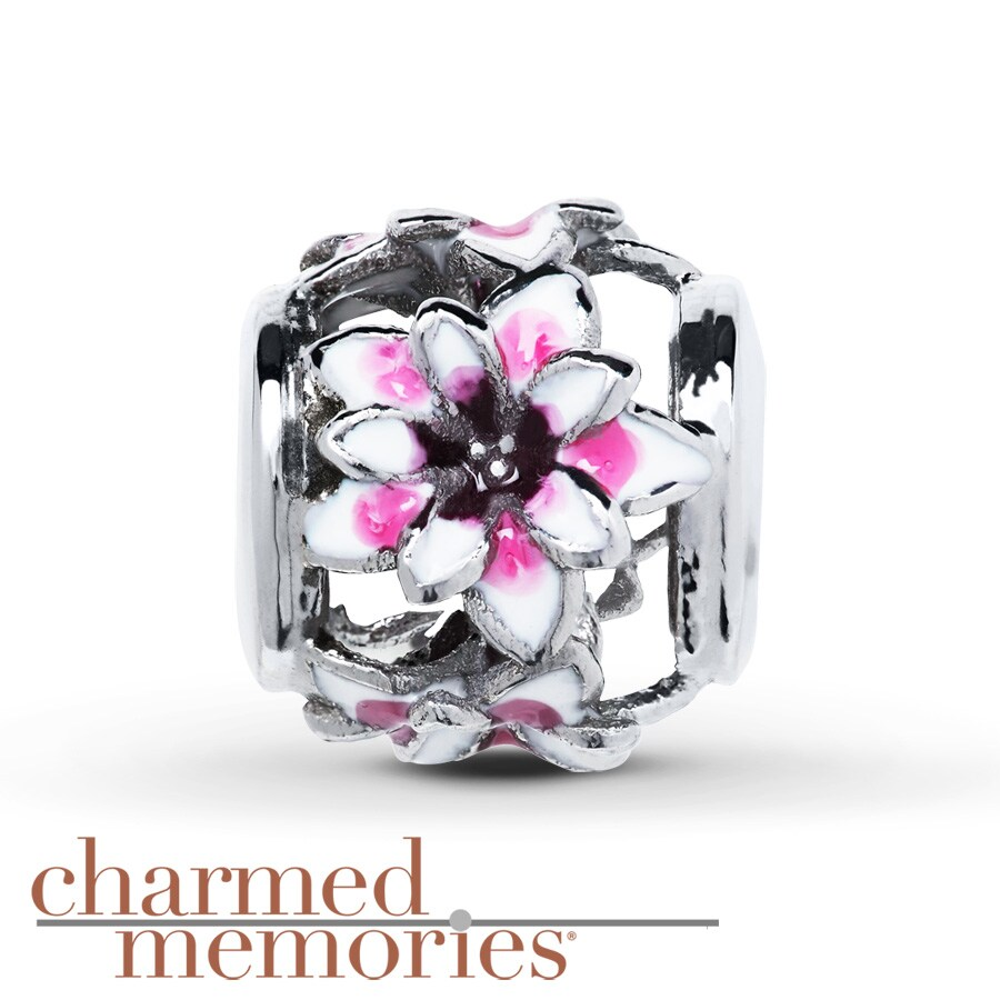Charmed Memories Flower Charm Sterling Silver 0SWgd