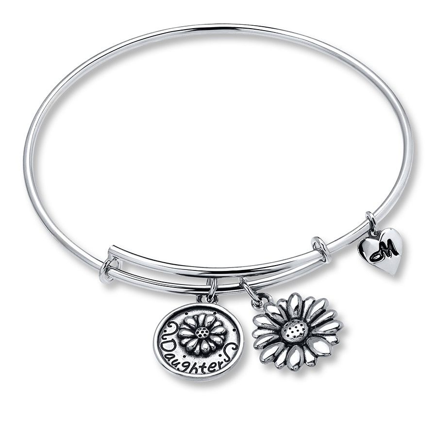 Charmed Memories February Bangle Bracelet Sterling Silver dKiePWFMME