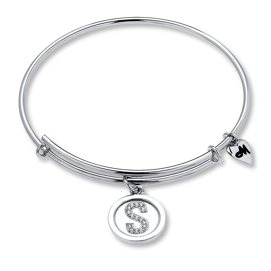 Charmed Memories February Bangle Bracelet Sterling Silver ndtRjLkx