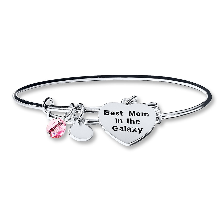 Charmed Memories Bangle Star Wars Mom Sterling Silver gm5zY3R