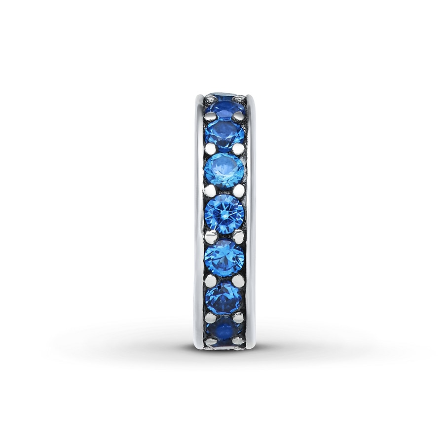 513907d12 Charmed Memories Charm Blue Cubic Zirconia Sterling Silver. Hover to zoom