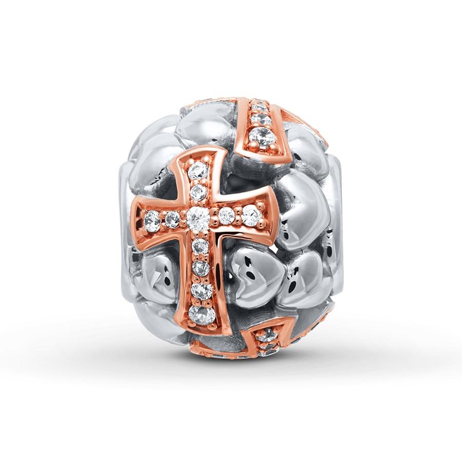 Charmed Memories Cross Earrings Sterling Silver/14K Gold Plated IlaIN