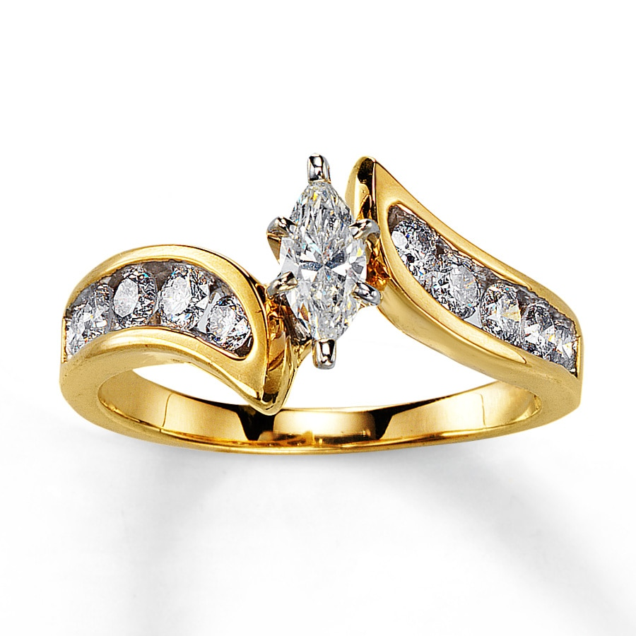 wedding karat diamond gold pre rings product yellow ring shaped owned heart
