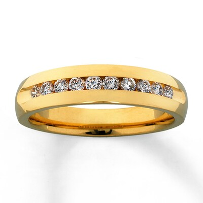 Previously Owned Band 1/2 ct tw Diamonds 14K Yellow Gold Ring Kay Jewelers