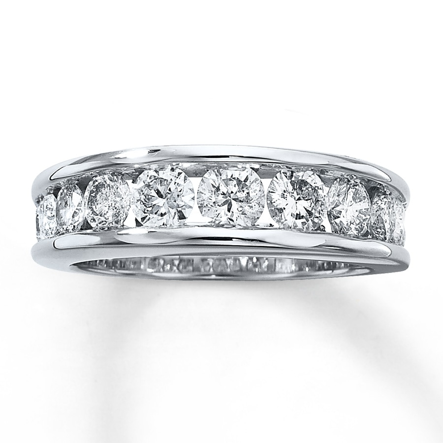 Previously Owned Band 1 2 Ct Tw Diamonds 14k White Gold