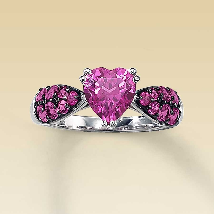 weddings emma shaped cut engagement heart customized martha pink rings stewart vert parker