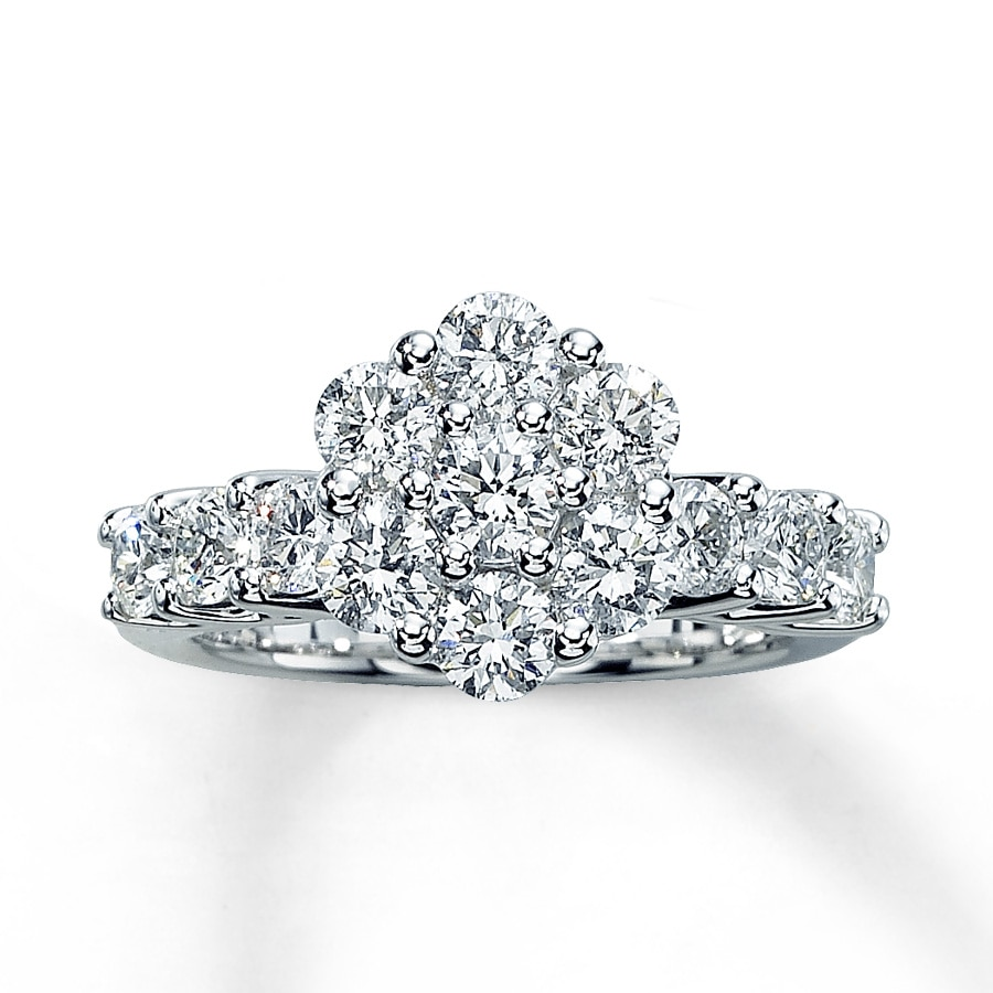 Kay Diamond Engagement Ring 1 7 8 ct tw Round Cut 14K White Gold