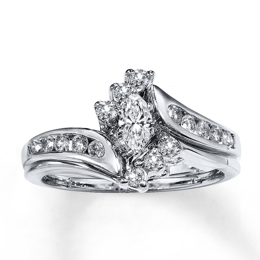 diamond wedding ring set bridal sets bridal sets marquise white gold 3519