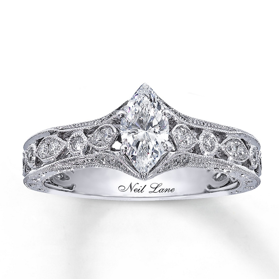 Kay Neil Lane Engagement Ring 3 4 ct tw Diamonds 14K White Gold
