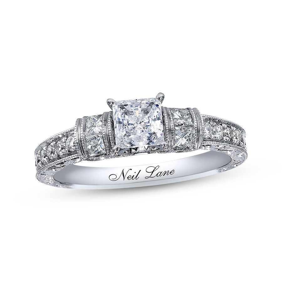 Kay Neil Lane Bridal Ring 58 Ct Tw Diamonds 14k White Gold