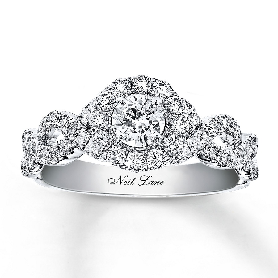 hover to zoom - White Gold Wedding Rings
