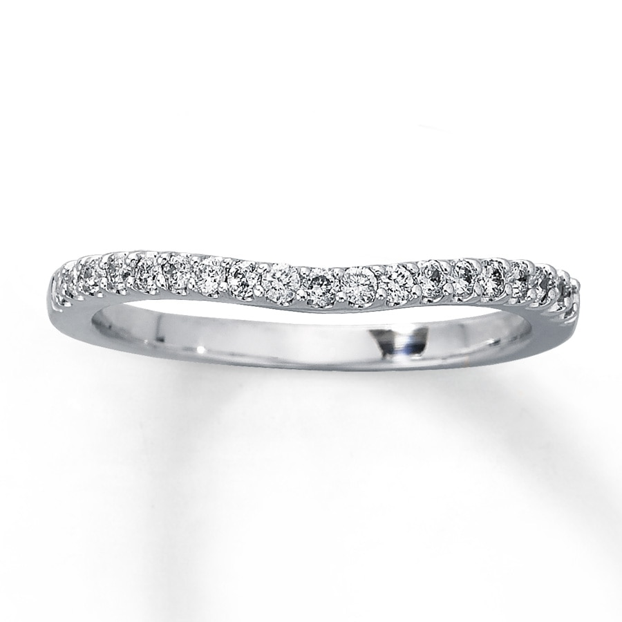 band wedding bands with gold in contour diamonds white