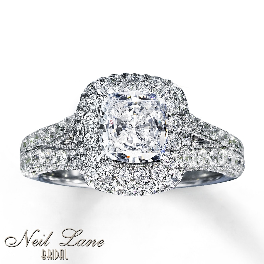 Kay Neil Lane Bridal Ring 2 7 8 ct tw Diamonds 14K White Gold