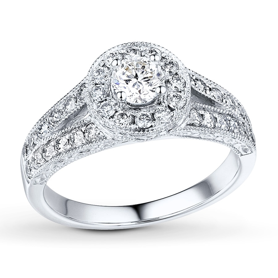 Kay Diamond Engagement Ring 5 8 ct tw Round cut 14K White Gold